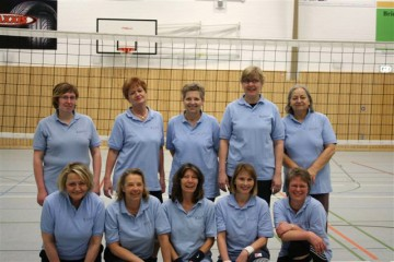 Damen-Volleyballgruppe