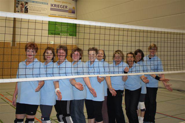 Damen-Volleyballgruppe
